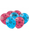 Balões de Látex Maria Clara e JP 9 Polegadas 23cm Festcolor 25 Unidades