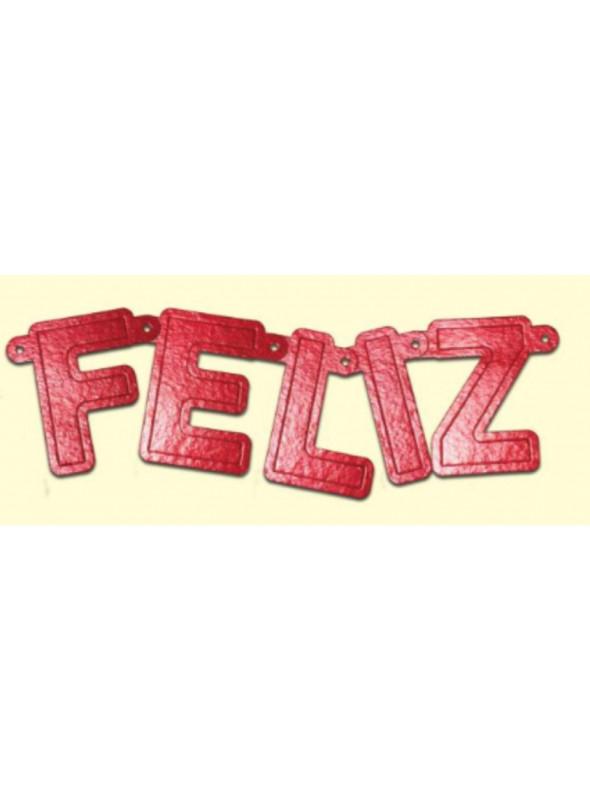 Faixa Decorativa Feliz Aniversário Metalic Vermelho Ultrafest
