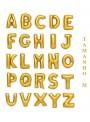 Balões Metalizados Dourado Letras Tamanho M