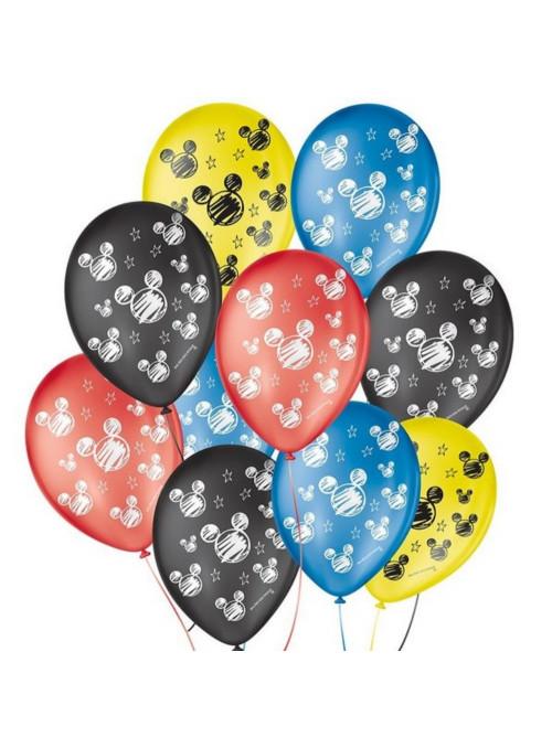 Balões de Látex Orelha de Rato Sortido 9 Polegadas 23cm São Roque 25 Unidades