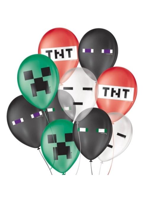 Balões de Látex Pixel Sortido 9 Polegadas 23cm São Roque 25 Unidades