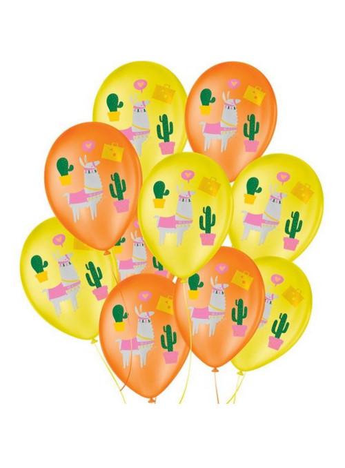 Balões de Látex Lhama Sortido 9 Polegadas 23cm São Roque 25 Unidades