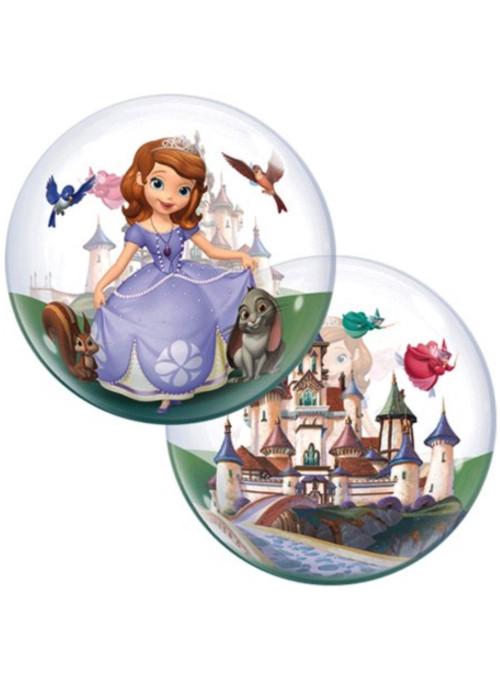 Balão Bubble Princesa Sofia 22 Polegadas 56cm Qualatex