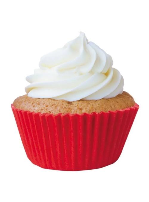 Forminha para Cupcake Vermelho Solta Fácil Vai ao Forno Ultrafest 57 Unidades