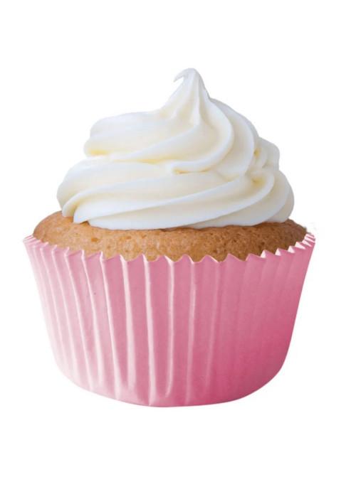 Forminha para Cupcake Rosa Claro Solta Fácil Vai ao Forno Ultrafest 57 Unidades