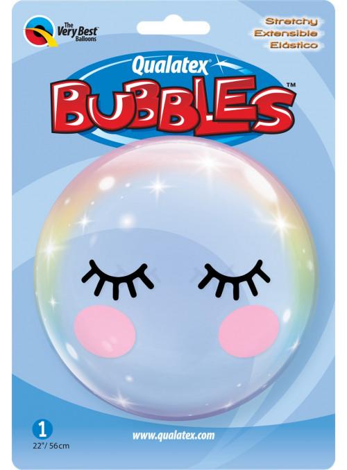 Balão Bubble Transparente Cílios 22 Polegadas 56cm Qualatex