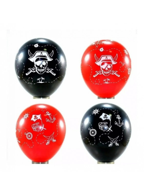 Balões De Látex Piratas Sortidos - 25 Unidades