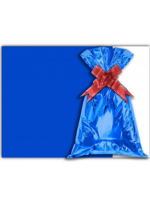 Saco para Presente Azul Metálico 30cm x 44cm Cromus 50 Unidades