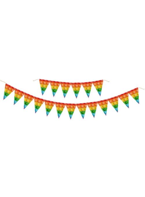 Faixa Decorativa Aniversário Festa Pop It 2,40m Festcolor