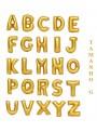 Balões Metalizados Dourado Letras Tamanho G