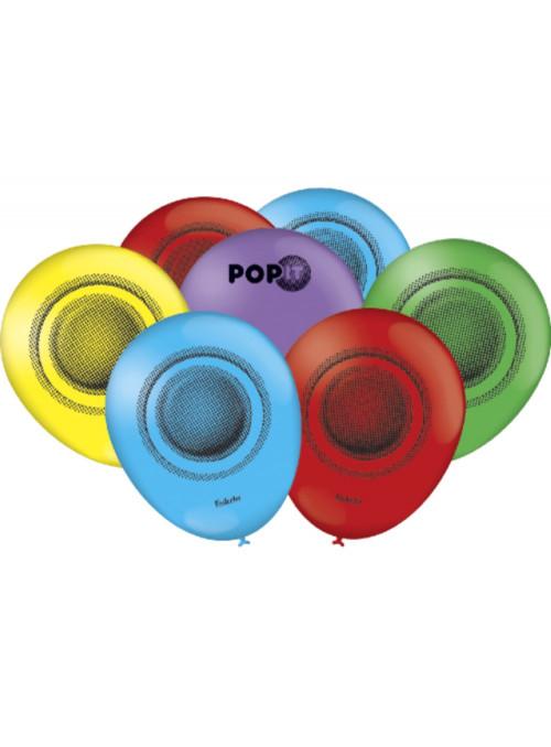 Balões de Látex Festa Pop It 9 Polegadas 23cm Festcolor 25 Unidades