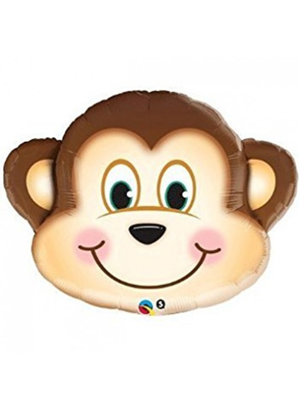 Balões Metalizados Macaco Safari - 5 Unidades