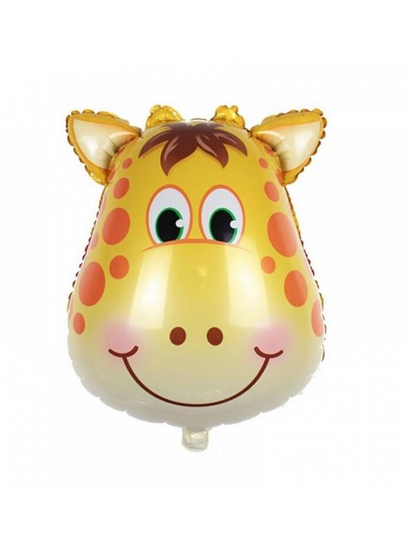 Balões Metalizados Girafa Safari - 5 Unidades