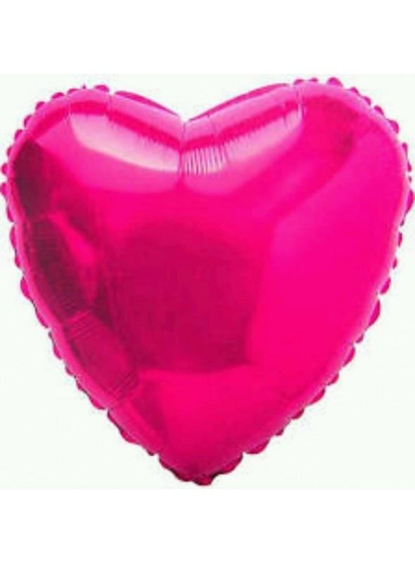 Balões Metalizados Coração Rosa - 10 Unidades