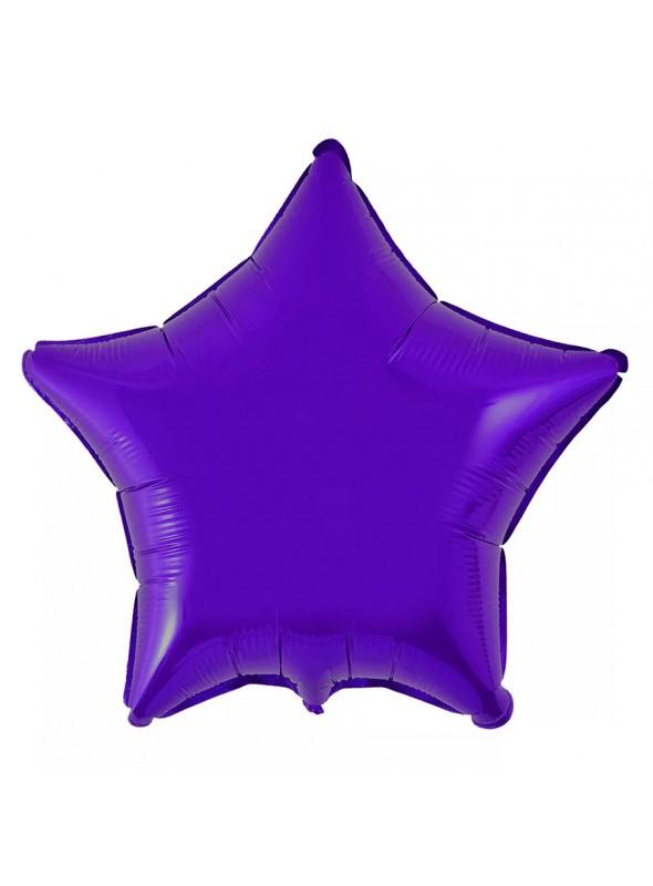 Balões Metalizados Estrela Roxo - 10 Unidades