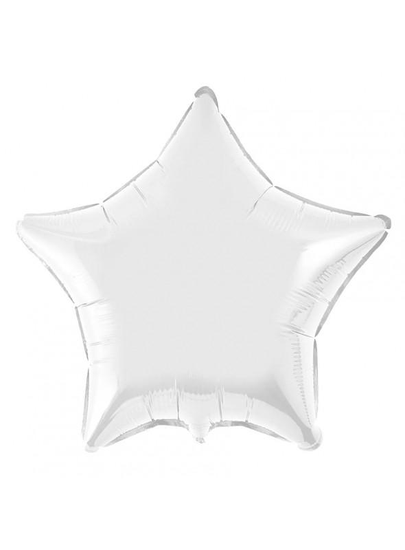 Balões Metalizados Estrela Prata - 10 Unidades