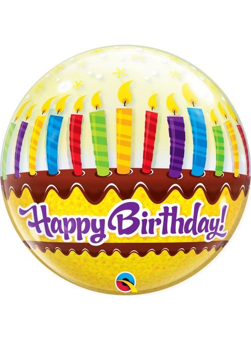 Balão Bubble Bolha Bolo de Aniversário