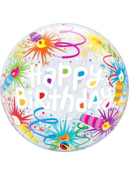 Balão Bubble Bolha Transparente Velas Aniversário