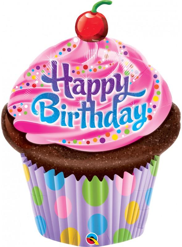 Balão Metalizado Cupcake Aniversário