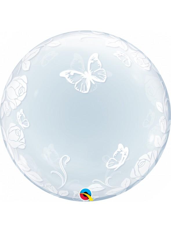 Balão Bubble Deco Transparente Borboletas – 1 unidade