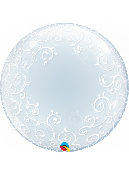 Balão Bubble Deco Transparente Arabesco – 1 unidade