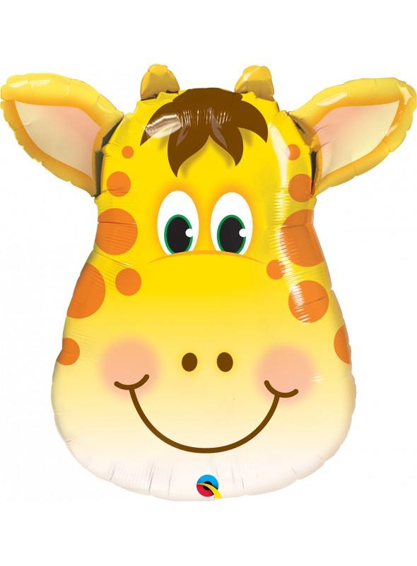 Balão Metalizado Girafa - 1 Unidade