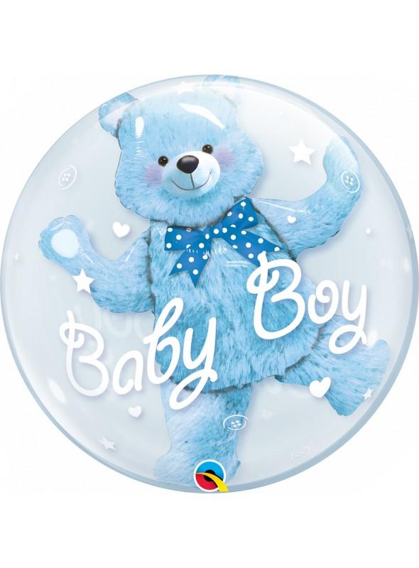 Balão Bubble Duplo Ursinho Baby Boy - 1 unidade