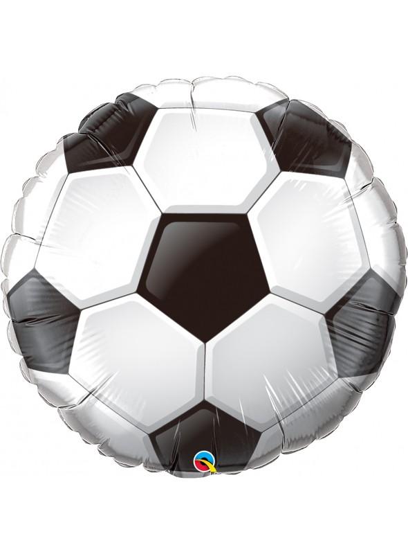 Balão Metalizado Bola de Futebol 46cm Qualatex - 1 Unidade