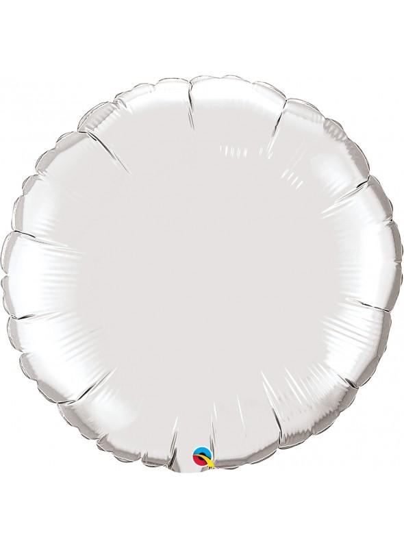 Balões Metalizados Redondos Prata – 5 unidades