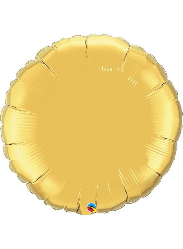 Balões Metalizados Redondos Ouro – 5 unidades