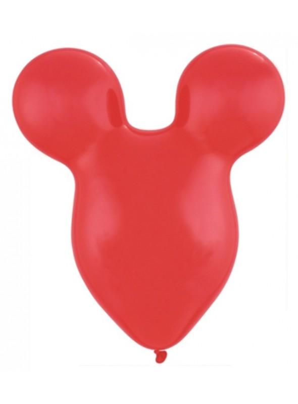 Balões de Látex Cabeça Mickey e Minnie Vermelho – 5 unidades