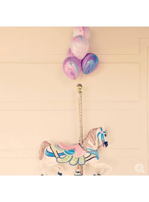 Balões de Látex Marmorizado Fashion – 5 unidades