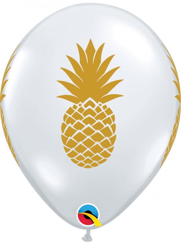 Balões De Látex Transparentes Abacaxi – 10 unidades