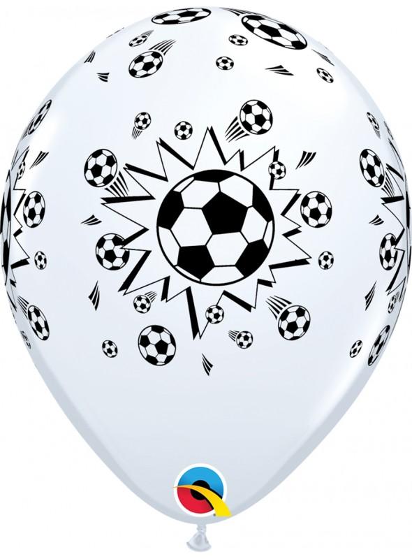 Balões De Látex Bolas de Futebol - 10 Unidades