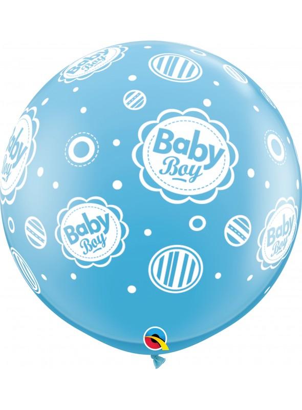 Balão de Látex Gigante Menino Bolinhas