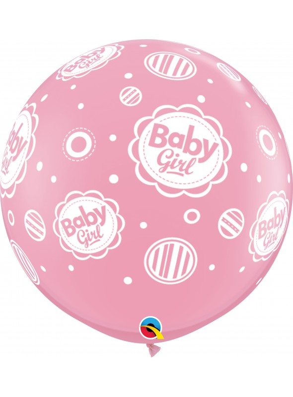 Balão de Látex Gigante Menina Bolinhas