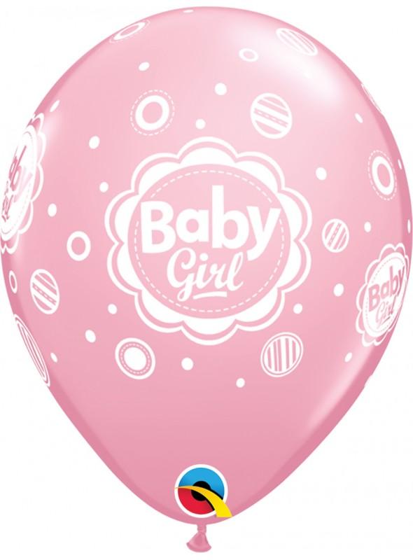Balões De Látex Menina Bolinhas - 10 Unidades