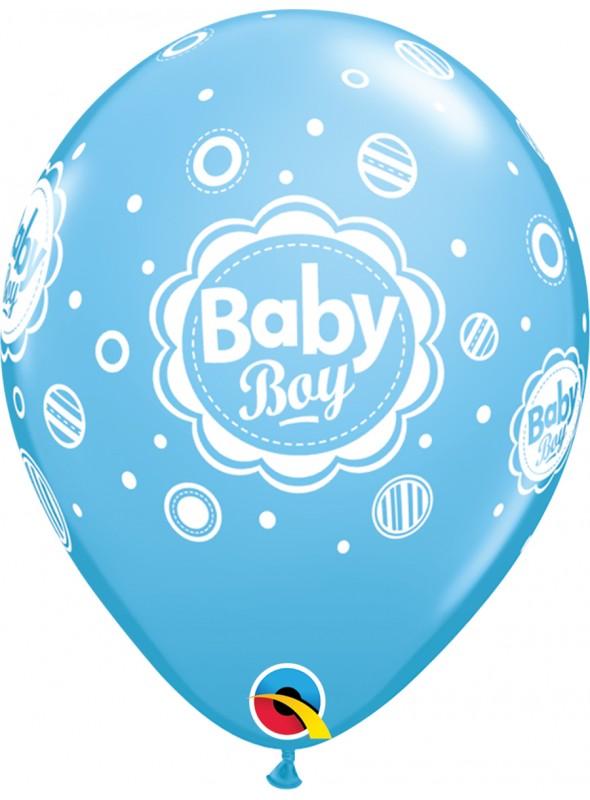 Balões De Látex Menino Bolinhas - 10 Unidades