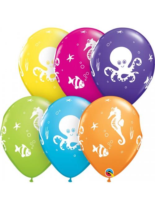 Balões De Látex Criaturas Marítimas - 10 Unidades