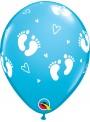 Balões De Látex Pegadas de Bebê Menino- 10 Unidades