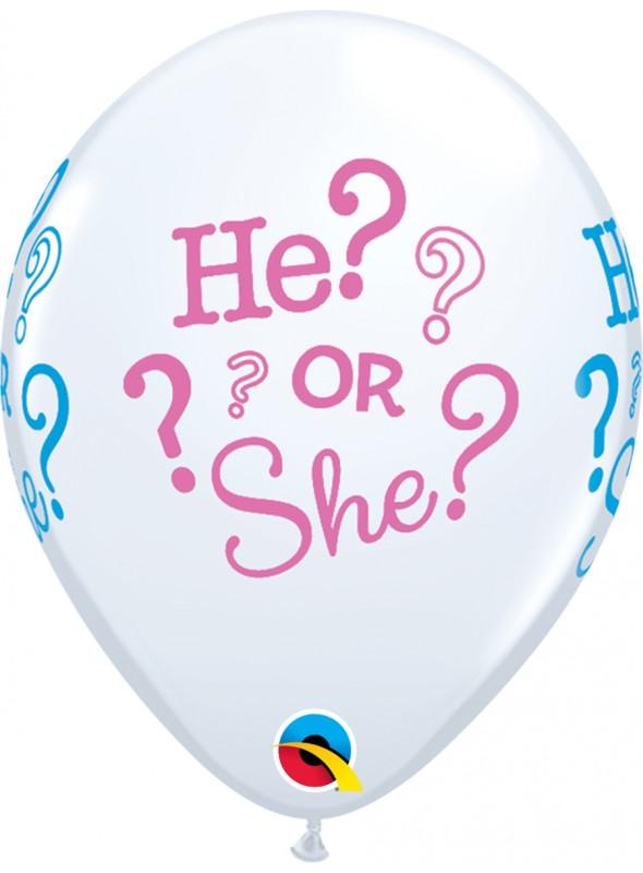 Balões De Látex He or She- 10 Unidades