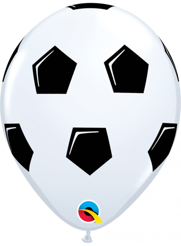 Balões De Látex Bola de Futebol - 10 Unidades