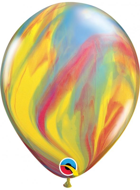 Balões De Látex Marmorizado Tradicional - 5 Unidades