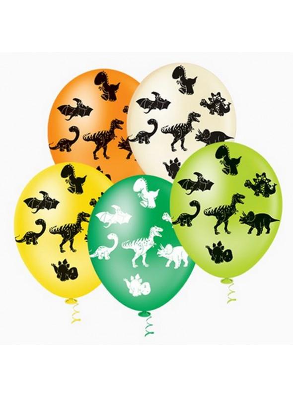 Balões De Látex Dinossauros- 25 Unidades