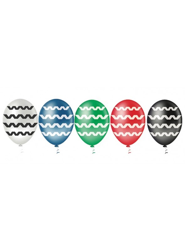 Balões De Látex Chevron- 25 Unidades