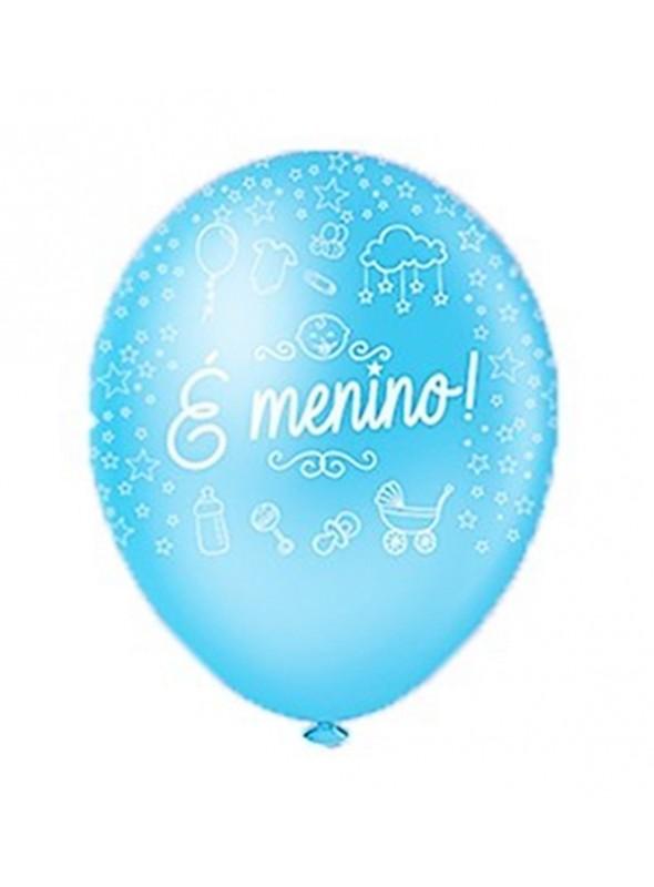 Balões De Látex É Menino- 25 Unidades