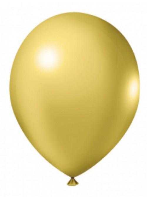 Balões De Látex Metalizados Ouro- 50 Unidades