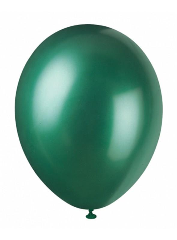 Balões De Látex Metalizados Verde Escuro- 50 Unidades