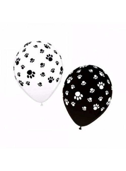 Balões De Látex Pegadas Cachorro- 25 Unidades
