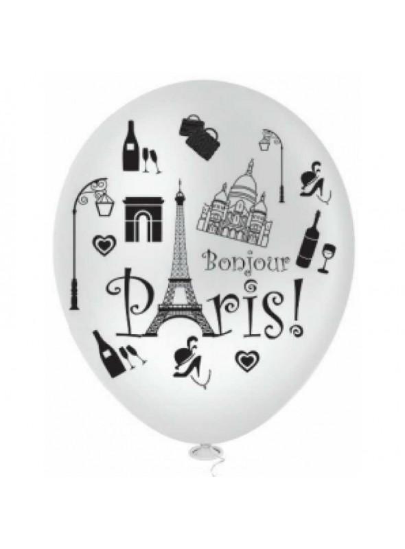 Balões De Látex PARIS Branco- 25 Unidades